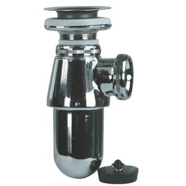 Gelia 3000920402 Pungvattenlås metall, med bottenventil, för 32 mm rör