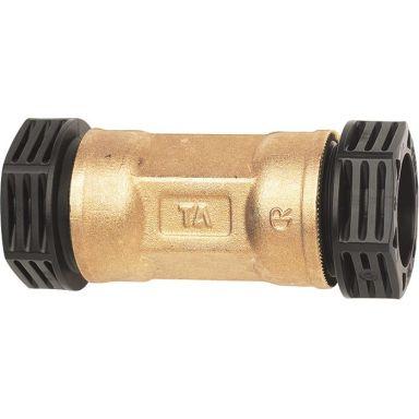 TA 3004006022 PEM-koppling metall, rak, plast-plast