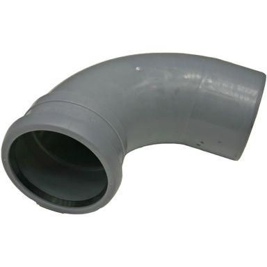 Pipelife 170376 Böj med 1 muff, lång radie, 88,5°, 110 mm