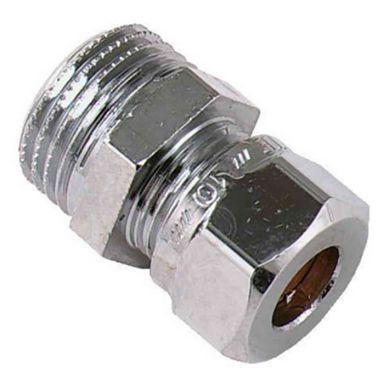Vatette FG032083520 Klämringskoppling rak, förkromad, utv gänga, 18 mm x G15