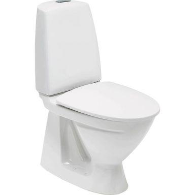 Ifö Sign 6860 Toalettstol med S-lås, dubbelspolning, för limning