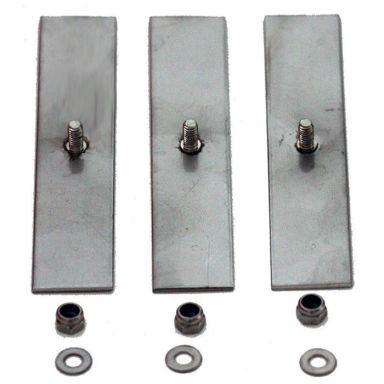 Design4Bath TBD-0110 Montagebricka för duschprofiler, 3-pack