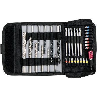 Metabo 626725000 Borr- & bitsset 35 delar, med hållare och väska