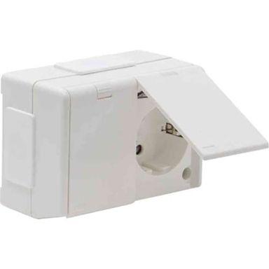 Elko 4044262213 Vägguttag kapslad, 2-vägs med lock