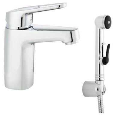 FM Mattsson Siljan 83570000 Tvättställsblandare med handdusch, utan bottenventil