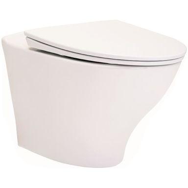 IDO Glow Rimfree 7616601201 WC-skål vägghängd, med hårdsits soft-close