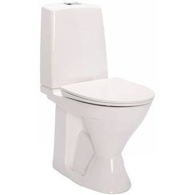 IDO Glow Rimfree 3726201201 Toalettstol hög, med mjuksits