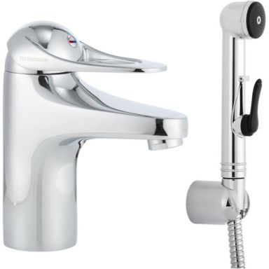 FM Mattsson 9000E 80670000 Tvättställsblandare med handdusch, utan bottenventil