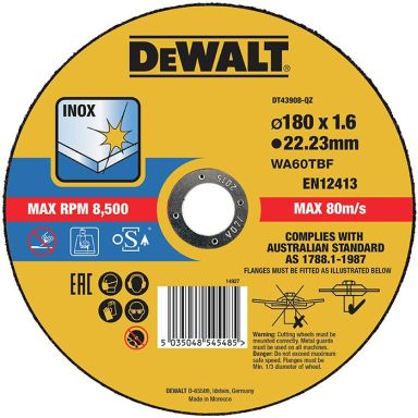 Dewalt DT43908 Kappskive thin cutting