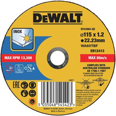 Dewalt DT43903 Katkaisulaikka thin cutting