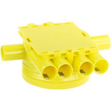 Gelia 1426032-2 Koblingsboks gul, dobbelgips, inkl. låsefjær