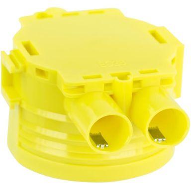 Gelia 1426019-2 Apparatboks gul, dobbelgips, inkl. låsefjær