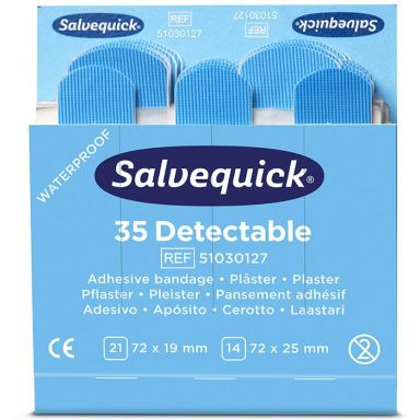 Salvequick 51030127 Blue Detectable Plaster