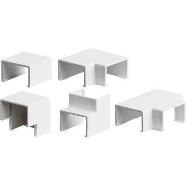 Plasfix 3390 Skarv- och hörnbitar till Plasfix, vit, 9 x 5 mm