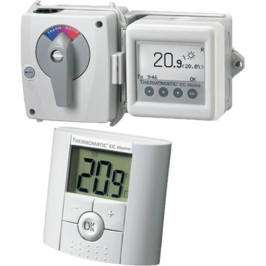 Termoventiler Termomatic EC Home WL Villareglering med trådlös rumsgivare