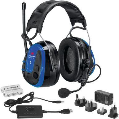3M Peltor WS Alert XPI Hörselskydd Bluetooth, hjässbygel, laddpaket