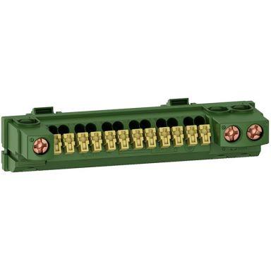 Schneider Electric R9H13409 Jordskinne for Resi9 normkapsling, 15 tilkoblinger