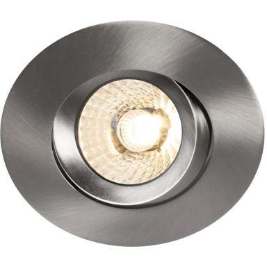 Hide-a-Lite Comfort G3 Tilt Downlight børstet stål, 2700 K