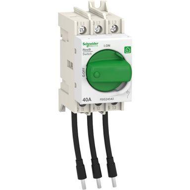 Schneider Electric Resi9 Pääkytkin 3-napainen, vääntönupilla