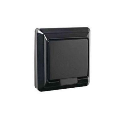 Elko EKO01294 Vegguttak 1-veis, med lokk, svart