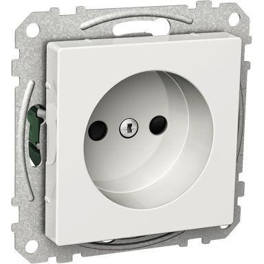 Schneider Electric Exxact WDE002171 Vägguttag ojordat, 1-vägs