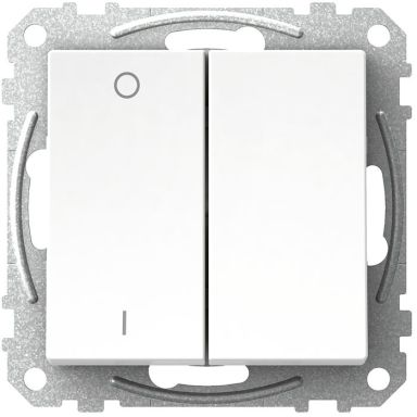 Schneider Electric Exxact WDE002141 Kytkin nelikulmainen keinuvipu, ilman kouria, valkoinen