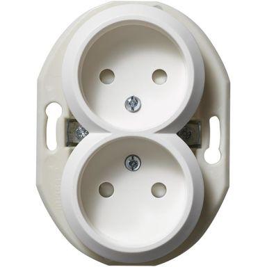 Schneider Electric Renova WDE011121 Vägguttag utan ram, ojordat, 2-vägs