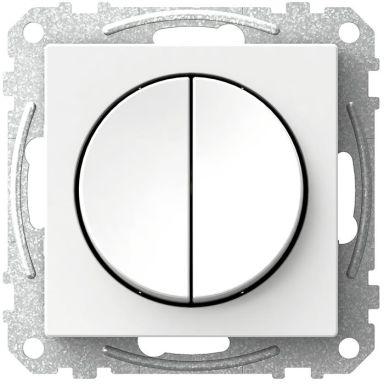 Schneider Electric Exxact WDE002316 Kytkin pyöreä vipu, kruunu, valkoinen
