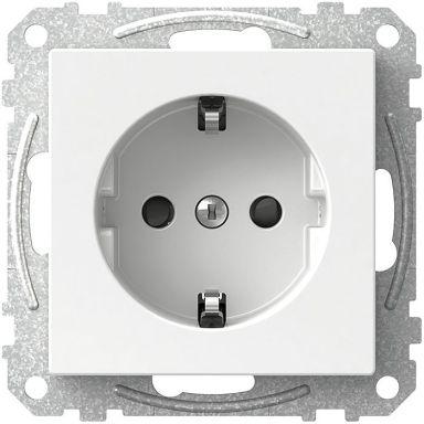 Schneider Electric Exxact WDE002176 Vägguttag jordat, 1-vägs