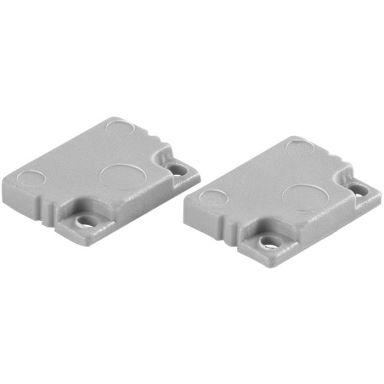 Hide-a-Lite U-profil Låg Gavlar till aluminiumprofiler, 2-pack