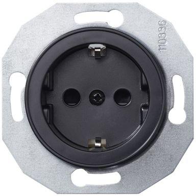 Schneider Electric Renova WDE011303 Vägguttag utan ram, jordat, 1-vägs