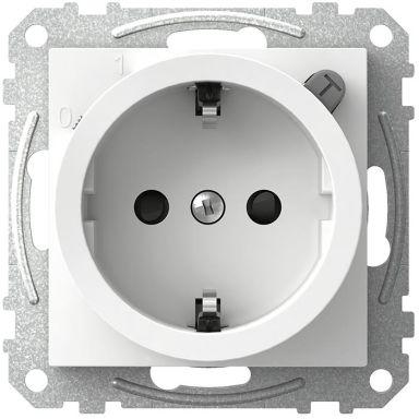 Schneider Electric Exxact WDE002323 Vägguttag med jordfelsbrytare, 1-vägs