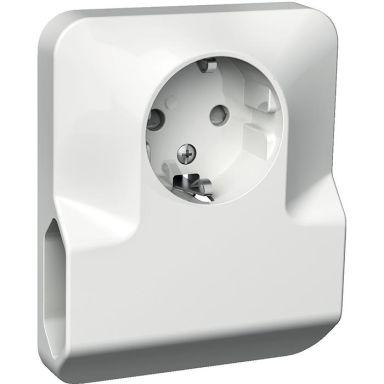 Schneider Electric Exxact WDE002183 Vägguttag kombi, jordat, 3-vägs