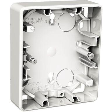 Schneider Electric Exxact WDE002360 Korotusrasia pinta-asennukseen, 2-osaiseen pistorasiaan