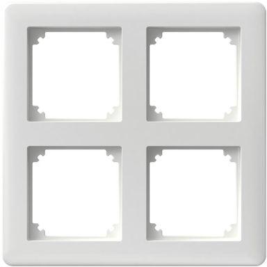 Schneider Electric Exxact Primo Yhdistelmäkehys matriisi, 2 x 2 lokeroa, valkoinen