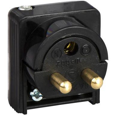 Schneider Electric 189519700 Lamppropp jordad, 2-pol, för sladdmontage, svart