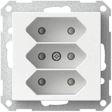 Schneider Electric Exxact WDE002279 Vägguttag 3-vägs Euro
