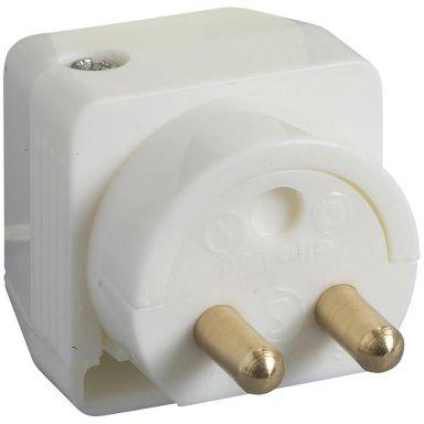Schneider Electric 189515100 Lampun pistoke maadoittamaton, 2-napainen, kaapeliasennukseen