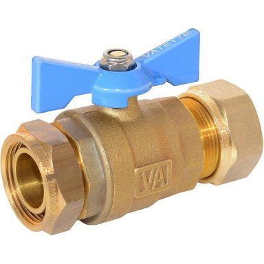Vatette 8547102 Avstängningsventil 22 mm x G20, rak