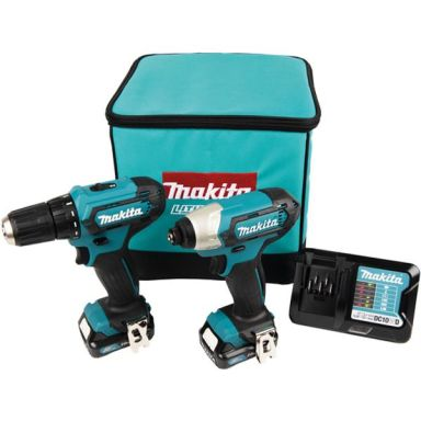 Makita CLX224A Työkalupaketti porakone + iskevä ruuvinväännin