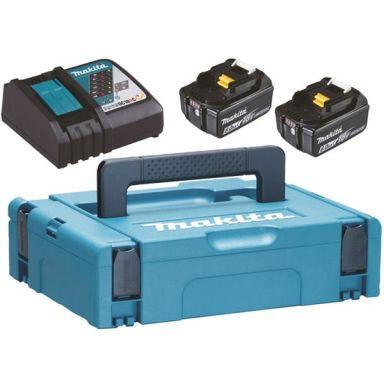 Makita Powerpack 198116-4 Laddpaket 2 st 6,0 Ah batterier, laddare och väska