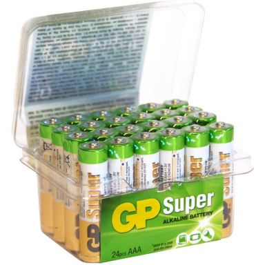GP Batteries Super Alkaline 24A / LR03 Alkaliska batterier AAA, POWERCASE, 24-pack
