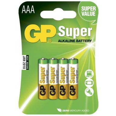 GP Batteries Super Alkaline 24A-2U4/LR03 Alkaliska batterier AAA, 4-pack