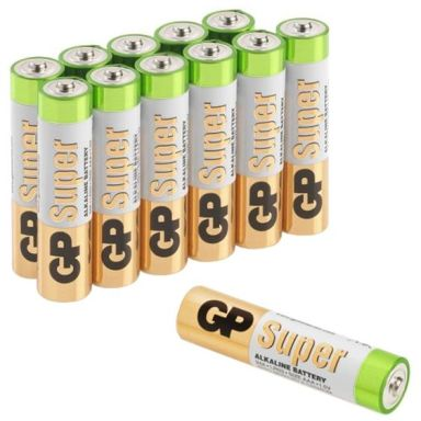 GP Batteries Super Alkaline 24A-S12/LR03 Alkaliska batterier AAA, 12-pack