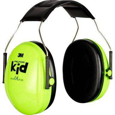 3M Peltor Kid Hörselskydd för barn, neongrön