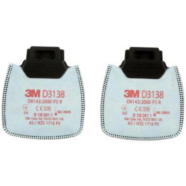 3M Secure Click D3138 Partikelfilter P3 R, till 800-serien