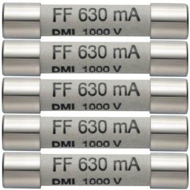 Testo 05900006 Reservsäkringar 630 mA/1000 V, 5-pack
