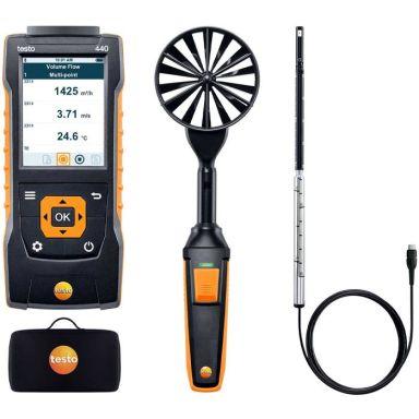 Testo 440 Kombimätset för luftflöde, med Bluetooth