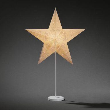 Konstsmide 2991-250 Julstjärna papper, vit, på fot