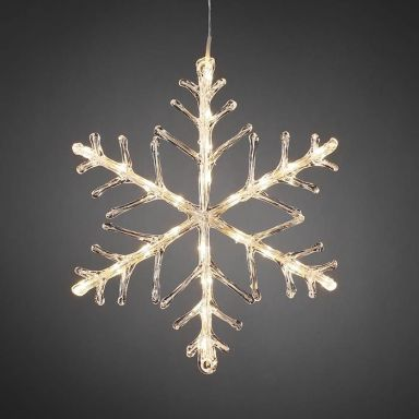 Konstsmide 4440-103 Dekorationsbeslysning snöflinga, 24 cm
